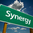 Synergy Road Sign — Stock Photo