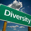 Stock Photo: Diversity Green Road Sign
