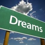Dreams Road Sign — Stock Photo