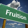 Fruition Road Sign - Stock Photo