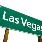 Las Vegas Road Sign On White — Stock Photo
