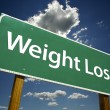 Weight Loss  Green Road Sign — Foto Stock