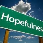 Hopefulness Green Road Sign — Stock Photo