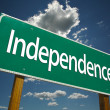 Stock Photo: Independence Green Road Sign