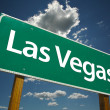 las vegas road sign over clouds and sky — Stock Photo
