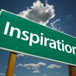Inspiration Green Road Sign - Foto Stock