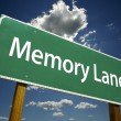 Memory Lane Green Road Sign — Stock Photo