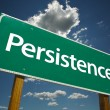 Stock Photo: Persistence Green Road Sign
