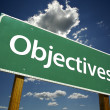 Objectives Road Sign — Stockfoto