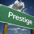 Prestige Green Road Sign - Stock Photo