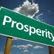Prosperity Green Road Sign — Stock Photo