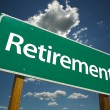 Stock Photo: Retirement Green Road Sign