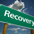Stock Photo: Recovery Green Road Sign