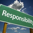 Responsibility Road Sign - Foto Stock