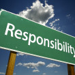 Responsibility Road Sign - Stock Photo