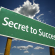 Secret to Success Green Road Sign - Stock Photo
