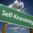 Self-Knowledge Green Road Sign — Stock Photo