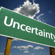 Stock Photo: Uncertainty Green Road Sign