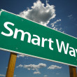 Smart Way Green Road Sign — Stock Photo