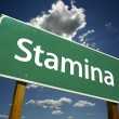 Stamina Green Road Sign — Stockfoto