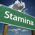 Stamina Green Road Sign — Stock Photo