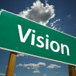 Vision Green Road Sign — Stock Photo #2329885