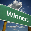 Stock Photo: Winners Road Sign