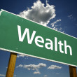 Wealth Road Sign - Stock Photo