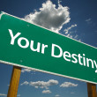 Stock Photo: Your Destiny Green Road Sign