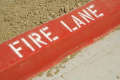 Red Fire Lane Curb — Stock Photo