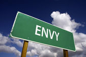 Envy Road Sign - 7 Deadly Sins Series — Stock Photo