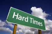 Hard Times Green Road Sign — Foto Stock
