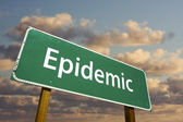 Epidemic Green Road Sign — Stock Photo