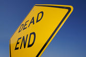 Dead End Traffic Sign Against Blue — Stock Photo