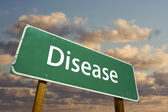 Disease Green Road Sign — Stock Photo