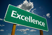 Excellence Road Sign Over Sky and Clouds — Stock Photo