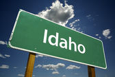 Idaho Green Road Sign — Stock Photo