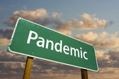 Pandemic Green Road Sign — Stock Photo