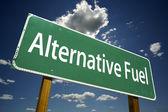 Alternative Fuel Road Sign — Stock Photo