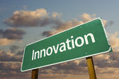 Innovation Green Road Sign — Stock Photo