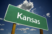 Kansas Road Sign — Stock Photo