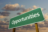Opportunities Green Road Sign — Stock Photo
