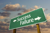 Success and Failure Green Road Sign — Stock Photo
