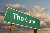 The Cure Green Road Sign — Stock Photo