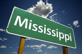 Mississippi Green Road Sign — Stock Photo