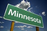 Minnesota Green Road Sign — Stock Photo