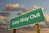 Easy Way Out Green Road Sign — Stock Photo