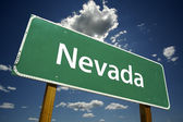 Nevada Green Road Sign — Stock Photo