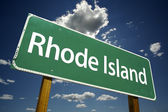 Rhode Island Road Sign — Stock Photo