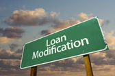 Loan Modification Green Road Sign — Stock Photo